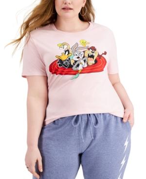 Trendy Plus Size Looney Tunes Graphic-Print T-Shirt