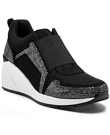INC Women's Heily Stretch Wedge Sneakers, Created for Macy's
