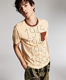 Ouigi Theodore for Men's Cotton Graphic Pocket T-Shirt