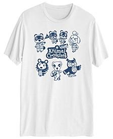 Animal Crossing Friends Men's Short Sleeve Graphic T-shirt