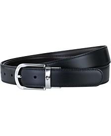 Men's Black & Brown Reversible Leather Belt