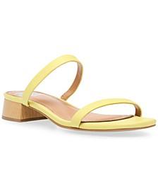 Nadonna Block-Heel Barely-There Slides