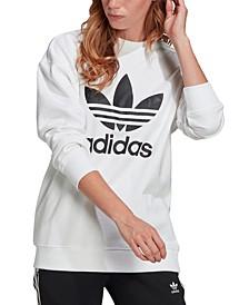 Women's Cotton Trefoil Logo Sweatshirt