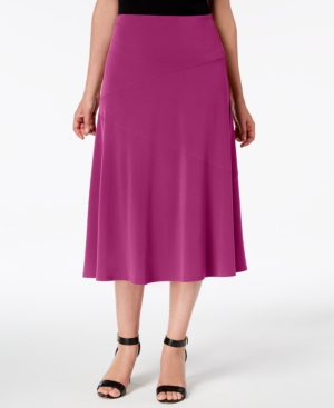1930s Style Skirts : Midi Skirts, Tea Length, Pleated Jm Collection Diagonal-Seam Midi Skirt Created for Macys $49.50 AT vintagedancer.com