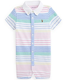 Ralph Lauren Baby Boys Striped Cotton Mesh Shortall