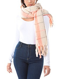 Neon Pop Plaid Scarf