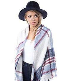 Suede Trim Boucle Hat