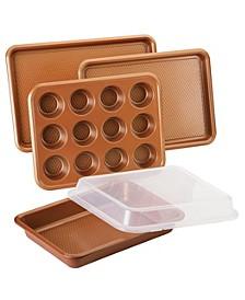 Ayesha Bakeware Nonstick Baking Pan Set, 5-Pc., Copper