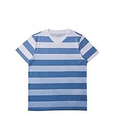 Big Boys V-neck Striped T-shirt