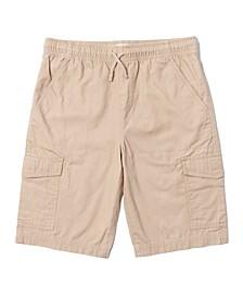 Little Boys Solid Tie Waist Cargo Shorts