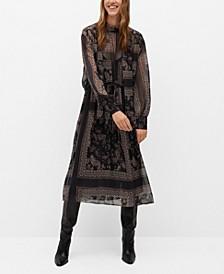 Women's Flowy Print Dress