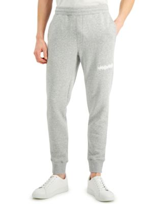 Men's Regular-Fit Logo Embroidered Fleece Joggers, Created for Macy's
