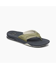 Men's Fanning Thong Sandals with Bottle Opener