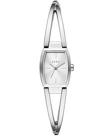 Women's Crosswalk Stainless Steel Bangle Bracelet Watch 18x22mm