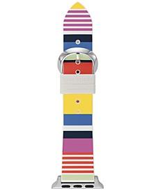 Multicolor Striped Silicone Strap for Apple Watch®