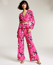 Floral-Print Wide-Leg Pants, Created for Macy's