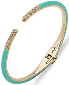 Gold-Tone Turquoise Color Cuff Bracelet