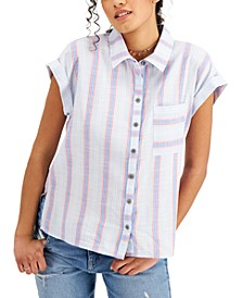Cotton Striped Camp Shirt, Created for Macy's