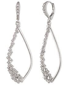 Crystal Stone Open Drop Earrings