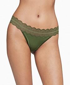 Women's Lace Trim Thong Underwear QD3779