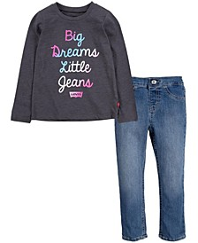 Little Girls T-shirt and Jeans Set