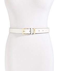 Pebble Leather Skinny Belt