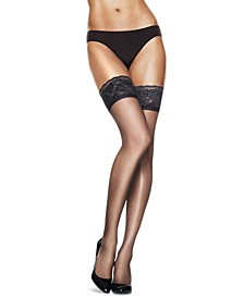 Women's   Silky Sheer Lace Top Thigh Highs Pantyhose 0A444