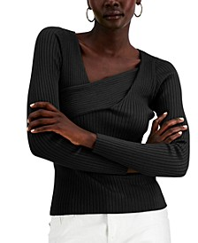 INC Asymmetrical Rib Sweater, Created for Macy's