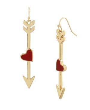 Heart Arrow Drop Earrings