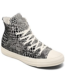 Women's Chuck Taylor All Star Crocodile High Top Casual Sneakers from Finish Line