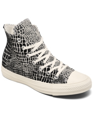Converse WOMEN'S CHUCK TAYLOR ALL STAR CROCODILE HIGH TOP CASUAL SNEAKERS FROM FINISH LINE