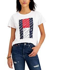 Cotton Logo Flag T-Shirt