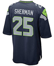 Nike Kids' Richard Sherman Seattle Seahawks Game Jersey, Big Boys (8-20)