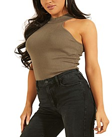 Shea Ribbed Mock-Neck Tank Sweater