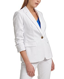 X-fit Ruched-Sleeve Blazer