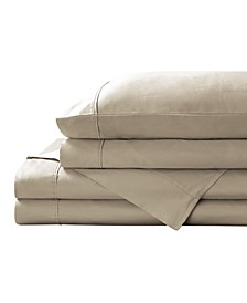 600 Thread Count Solid Cotton Sateen Sheet Set, Full