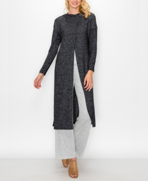 Coin WOMEN'S COZY HOODIE WRAP DUSTER