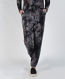 Women's Cozy Tie-Dye Side Pocket Joggers