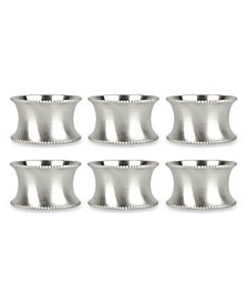 Beaded Napkin Ring, Set of 6