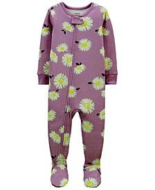 Toddler Girls Daisy Snug Fit Footie Pajama Set