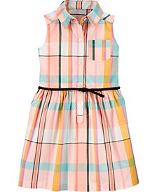 Toddler Girls Plaid Shirt Dress