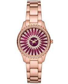 Women's Layton Three-Hand Rose Gold-Tone Stainless Steel Bracelet Watch 33mm