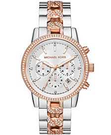 Women's Ritz Chronograph Two-Tone Stainless Steel Bracelet Watch 41mm