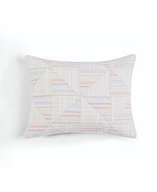 Flora Fauna Yarn Dye Patchwork 100% Cotton King Sham, Created for Macy's