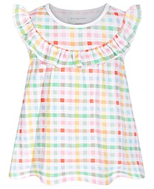 Baby Girls Multicolor Gingham Cotton Top, Created for Macy's