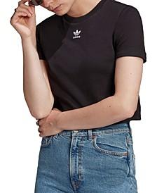 Women's Classics Roll-Up Sleeve Crop Top