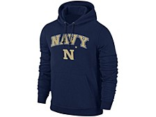Navy Midshipmen Men's Midsize Screenprint Hooded Sweatshirt