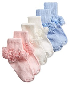 Baby Girls 3-Pack Dressy Lace Ankle Socks, Created for Macy's