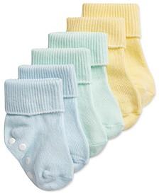 Baby Boys 3-Pair Cuffed Socks, Created for Macy's