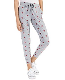 Heart-Print Jogger Pants, Created for Macy's